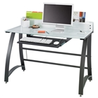 Xpressions Glass Top Computer Workstation
