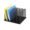 Black Mesh Desk Organizer with 5 upright sections, Onyx by Safco