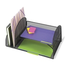 Mesh Desk Organizer w/ 2 Horizontal 2 Upright Sections
