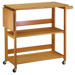 Kitchen Cart Foldable with Shelves