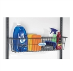 "Schulte freedomRail 30"" Work Basket in granite epoxy coated steel"