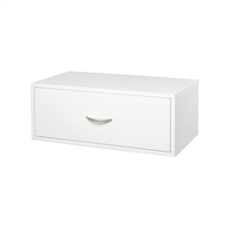 Double Hang O-Box 1 Drawer - White