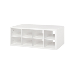 Double Hang O-Box Cubby - White