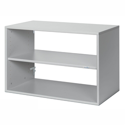 freedomRail one shelf GO box in granite grey