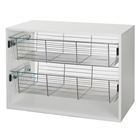 FreedomRail O-Box basket inserts for 1 Shelf Unit
