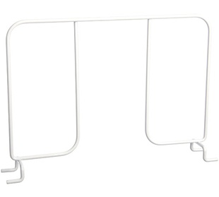 "16"" Ventilated Shelf Divider - White"