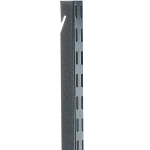 Schulte freedomRail upright for garages in dark grey granite finish
