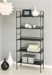 Ebonize 5 Tier shelf in espresso