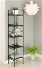 Ebonize 5 Tier square shelf for display
