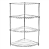 "24"" Chrome Wire Shelving Radial Corner Unit with 3 levels"