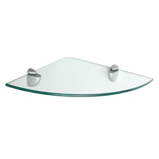 "12"" Glass Corner Shelf with Jam bracket"