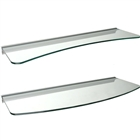 Concave & Convex Glass Shelf Set with Rail brackets