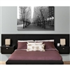 Designer Floating Queen Headboard with Nightstands