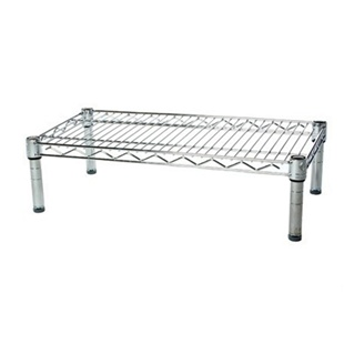 "14"" chrome wire shelving racks with one level"