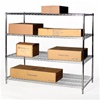 "30""d x 48""w Chrome Wire Shelving racks with 4 levels"