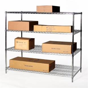 "36""d x 60""w Wire Shelving Rack with 4 Shelves"