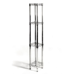 "8""d wire shelf with 4 shelves"