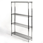 "8""d x 36""w Wire Shelving Unit with 4 Shelves"