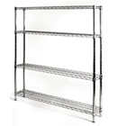 "8""d x 48""w Wire Shelving Unit with 4 Shelves"
