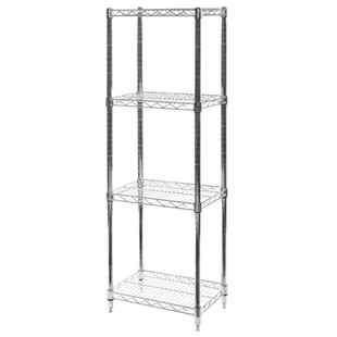 "12""d x 18""w Wire Shelving Unit with 4 Shelves"