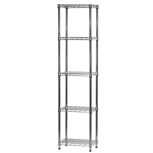 "12""d x 18""w Wire Shelving Unit with 5 Shelves"