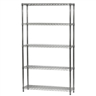 "12""d x 42""w Wire Shelving Unit with 5 Shelves"