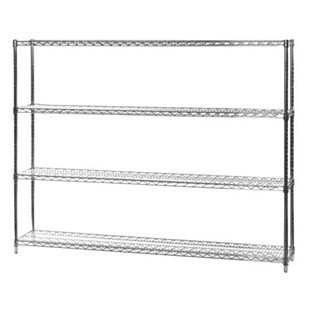 "12""d x 60""w Wire Shelving Unit with 4 Shelves"