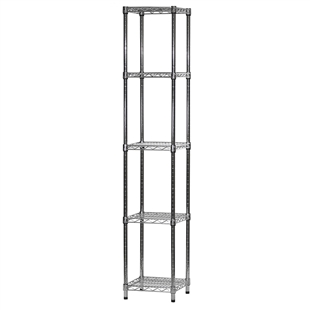 "14""d x 14""w Wire Shelving Unit with 5 Shelves"