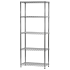 "14""d x 30""w Wire Shelving Unit with 5 Shelves"