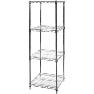 "18""d x 18""w Wire Shelving Unit with 4 Shelve"