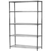 "18""d x 48""w Wire Shelving Unit with 5 Shelves"