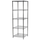 "24""d x 24""w Wire Shelving Unit with 5 Shelves"