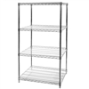 "24""d x 30""w Chrome Wire Shelving Unit with 4 Shelves"