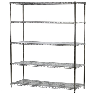 "24""d x 60""w Wire Shelving Unit with 5 Shelves"