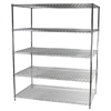 "36""d x 60""w Wire Shelving Unit with 5 Shelves"