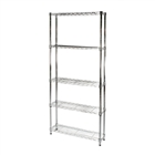 "8""d x 24""w Wire Shelving Unit with 5 Shelves"