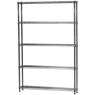 "8""d x 48""w Wire Shelving Unit with 5 Shelves"