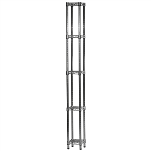 "8""d x 8""w Wire Shelving Unit with 5 Shelves"