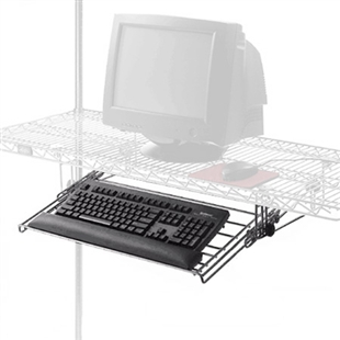 Wire shelving keyboard tray