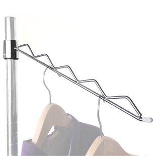 Sloped Hanger Rail for Wire Shelving