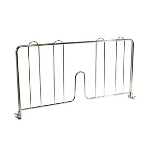 SI Chrome Wire Shelf Divider