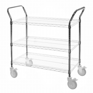 SI Chrome Wire Utility Cart Handle