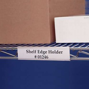 SI Chrome Wire Shelf Label Holders