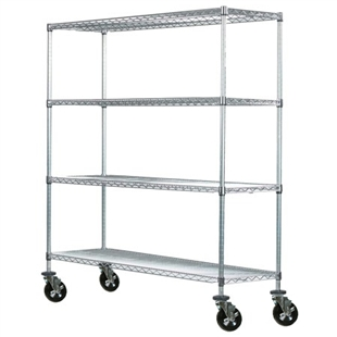 "24""d Mobile Wire Shelving Trucks"