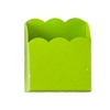 Lime Green Scalloped Metal Pencil/Cell Phone Bin