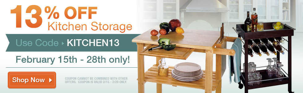 13% Off Kitchen Storage Use Code: KITCHEN13