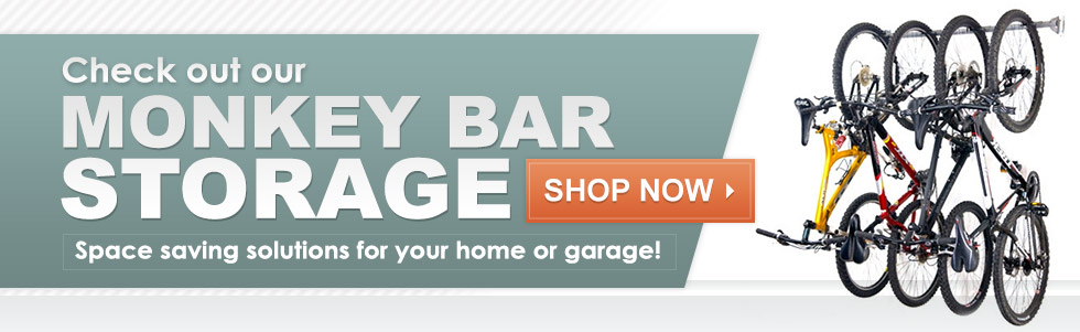 Check Out Our Monkey Bar Storage - Space Saving Solutions for Your Home or Garage