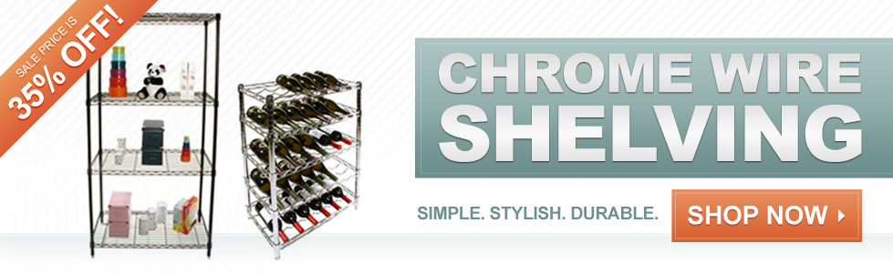 35% OFF Chrome Wire Shelving