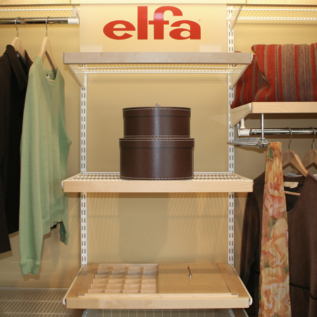 elfa products at The Shelving Store
