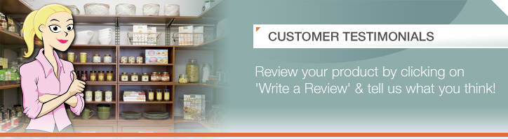 Customer Testimonials, review your product by clicking on 'Write a Review' & tells us what you think!